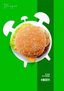 تبلیغات خلاق و همبرگر