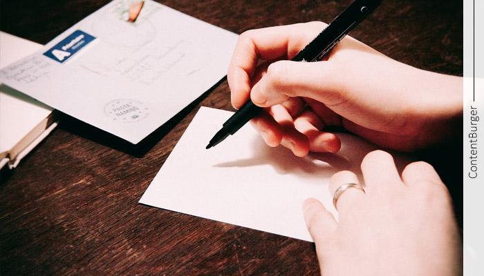 نوشتن نامه و تعریف محتوا