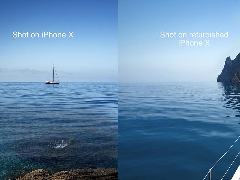 تبلیغ خلاق: تفاوت دو عکس مختلف آیفون…