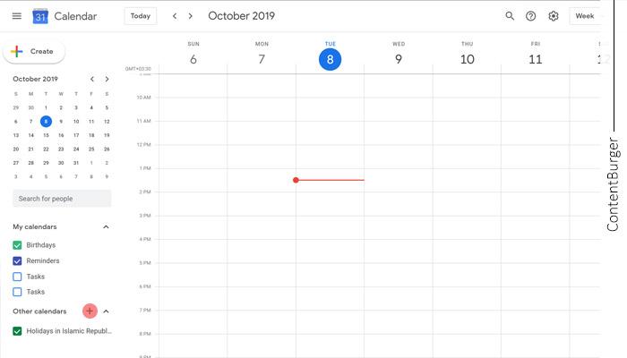 تقویم کانتنت برگر
